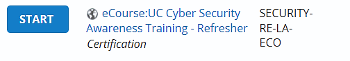 eCourse: UC Cyber Security Awareness Training